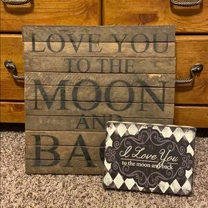 """""""I love you to the moon and back"""" House decor! ✨"""